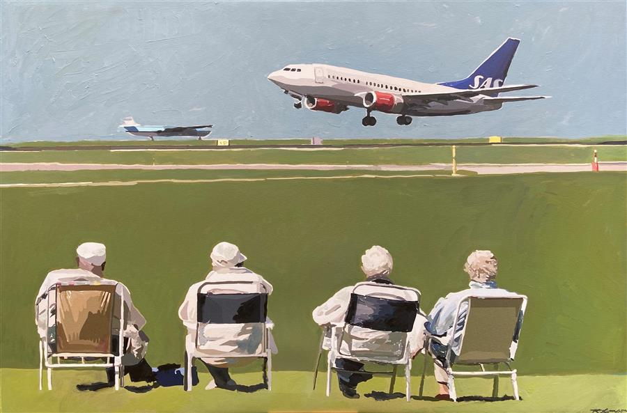 Original art for sale at UGallery.com   Jet Set by Keith Thomson   $1,700   oil painting   24' h x 36' w   ..\art\oil-painting-Jet-Set