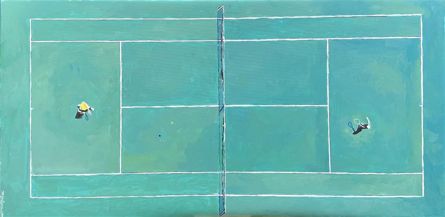 Original art for sale at UGallery.com | High Court by Keith Thomson | $1,775 | oil painting | 24' h x 40' w | ..\art\oil-painting-High-Court