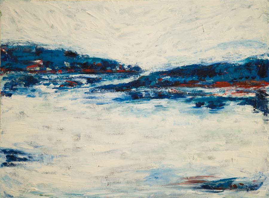 Original art for sale at UGallery.com | Somewhere... Feeling Calm by Kajal Zaveri | $2,500 | oil painting | 30' h x 40' w | ..\art\oil-painting-Somewhere-Feeling-Calm