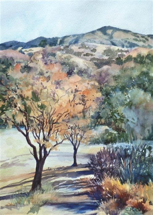 Original art for sale at UGallery.com | Mount Diablo, Sugarloaf View by Catherine McCargar | $575 | watercolor painting | 15' h x 11' w | ..\art\watercolor-painting-Mount-Diablo-Sugarloaf-View