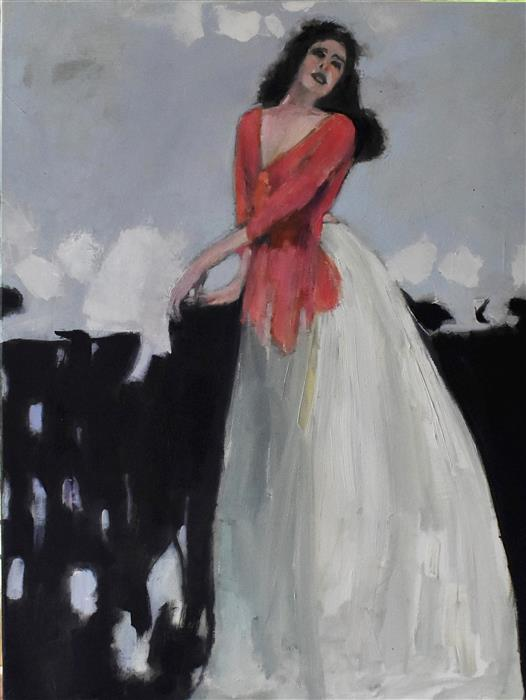 Original art for sale at UGallery.com | A Moment by Mary Pratt | $1,300 | oil painting | 24' h x 18' w | ..\art\oil-painting-A-Moment-71290