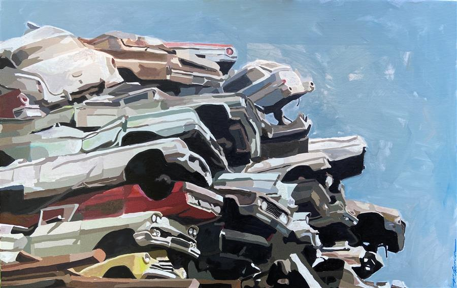Original art for sale at UGallery.com | Stories by Keith Thomson | $1,000 | oil painting | 16' h x 24' w | ..\art\oil-painting-Stories-71294