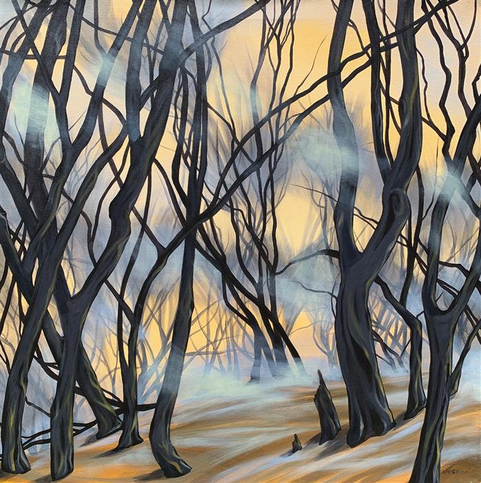 Original art for sale at UGallery.com | Cali Wildfires by Donna Corvi | $2,700 | acrylic painting | 30' h x 30' w | ..\art\acrylic-painting-Cali-Wildfires