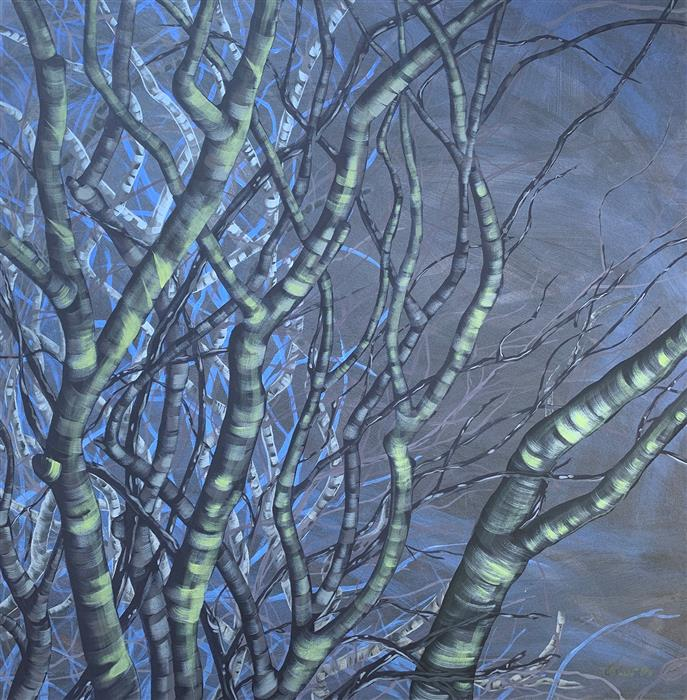 Original art for sale at UGallery.com | Dark Sky by Donna Corvi | $2,700 | acrylic painting | 30' h x 30' w | ..\art\acrylic-painting-Dark-Sky