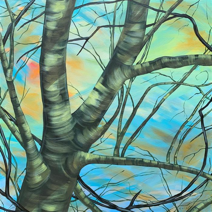 Original art for sale at UGallery.com | Spring Is in the Air by Donna Corvi | $2,700 | acrylic painting | 30' h x 30' w | ..\art\acrylic-painting-Spring-Is-in-the-Air-71305