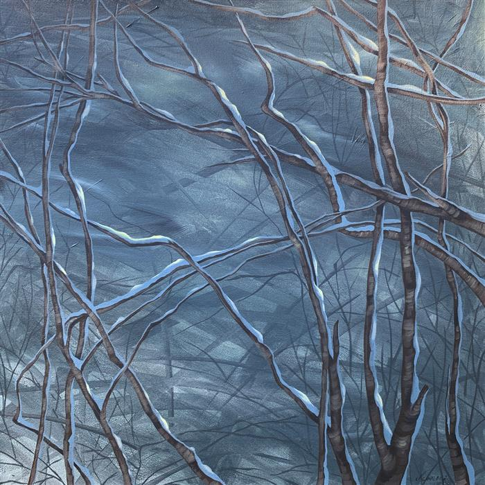 Original art for sale at UGallery.com   Night Sky by Donna Corvi   $2,700   acrylic painting   30' h x 30' w   ..\art\acrylic-painting-Night-Sky