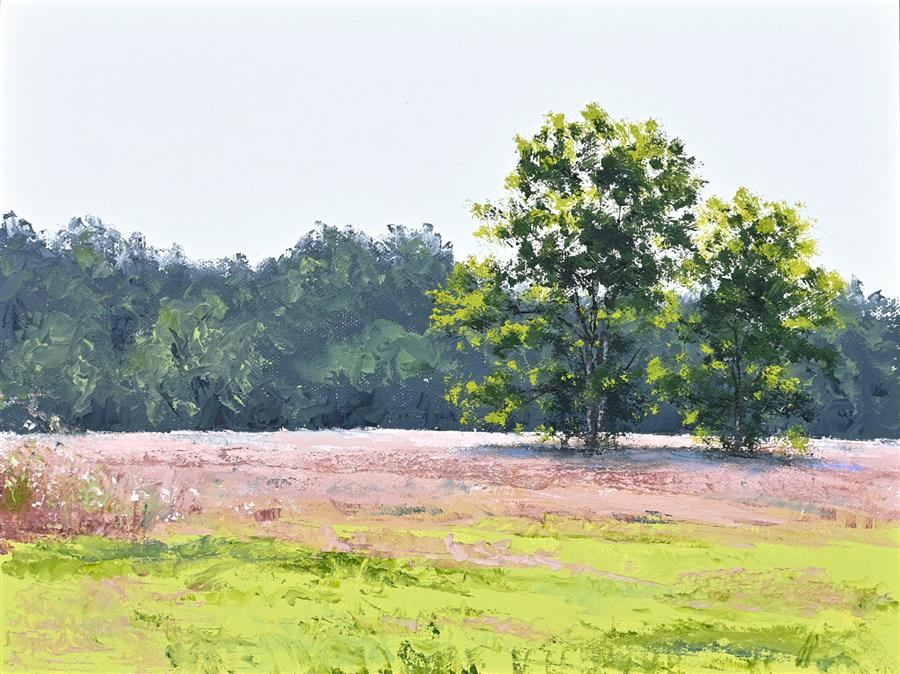 Original art for sale at UGallery.com | Vibrant Meadows by Jill Poyerd | $675 | oil painting | 9' h x 12' w | ..\art\oil-painting-Vibrant-Meadows