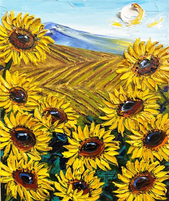 Original art for sale at UGallery.com | Van Gogh's Vineyard by Lisa Elley | $1,050 | oil painting | 24' h x 20' w | ..\art\oil-painting-Van-Gogh-s-Vineyard
