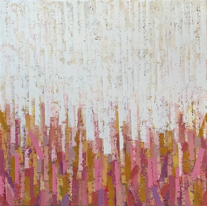 Original art for sale at UGallery.com | Sweet Memories by Janet Hamilton | $3,575 | oil painting | 40' h x 40' w | ..\art\oil-painting-Sweet-Memories