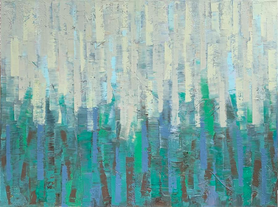 Original art for sale at UGallery.com | Daydreaming by Janet Hamilton | $2,775 | oil painting | 30' h x 40' w | ..\art\oil-painting-Daydreaming-71327