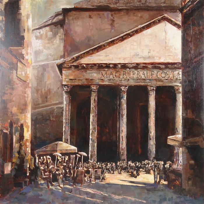 Original art for sale at UGallery.com | La Rotonda by Ingo Ulrich | $1,475 | oil painting | 27.6' h x 27.6' w | ..\art\oil-painting-La-Rotonda
