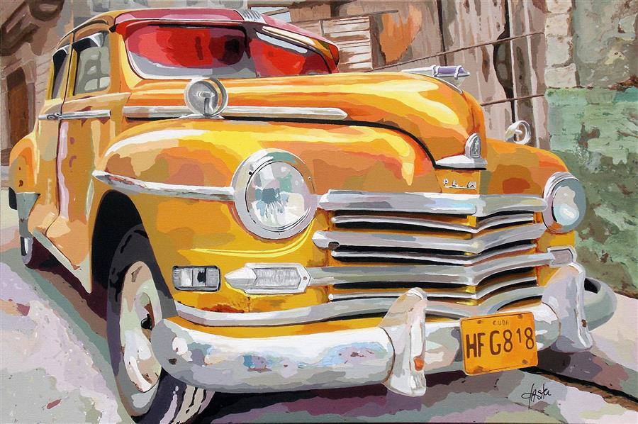 Original art for sale at UGallery.com | Havana Dream by John Jaster | $1,300 | acrylic painting | 24' h x 36' w | ..\art\acrylic-painting-Havana-Dream