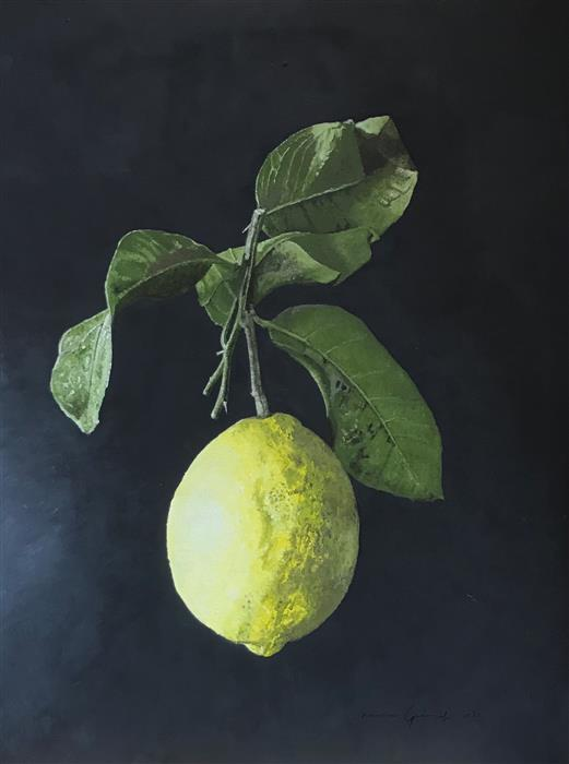 Original art for sale at UGallery.com | Limone by Simone Giaiacopi | $1,500 | oil painting | 23.6' h x 17.7' w | ..\art\oil-painting-Limone