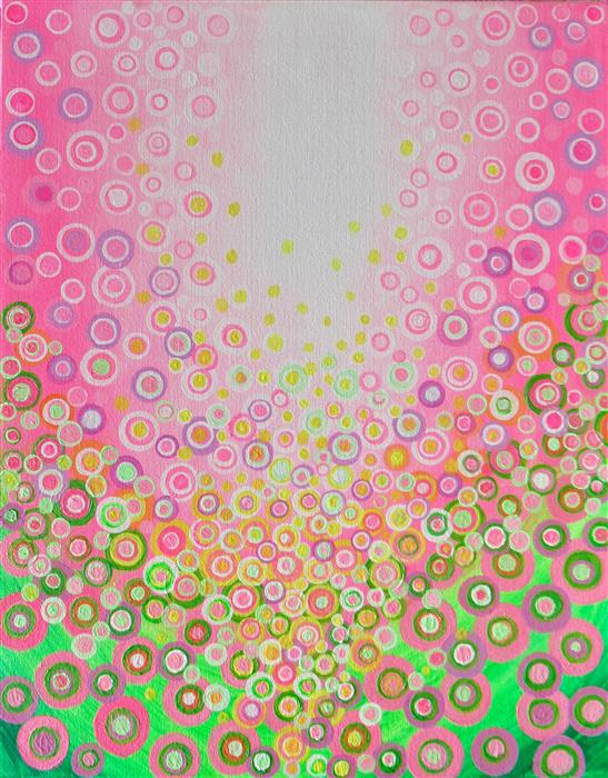 Original art for sale at UGallery.com | Pink and Green 3 by Natasha Tayles | $450 | acrylic painting | 20' h x 16' w | ..\art\acrylic-painting-Pink-and-Green-3