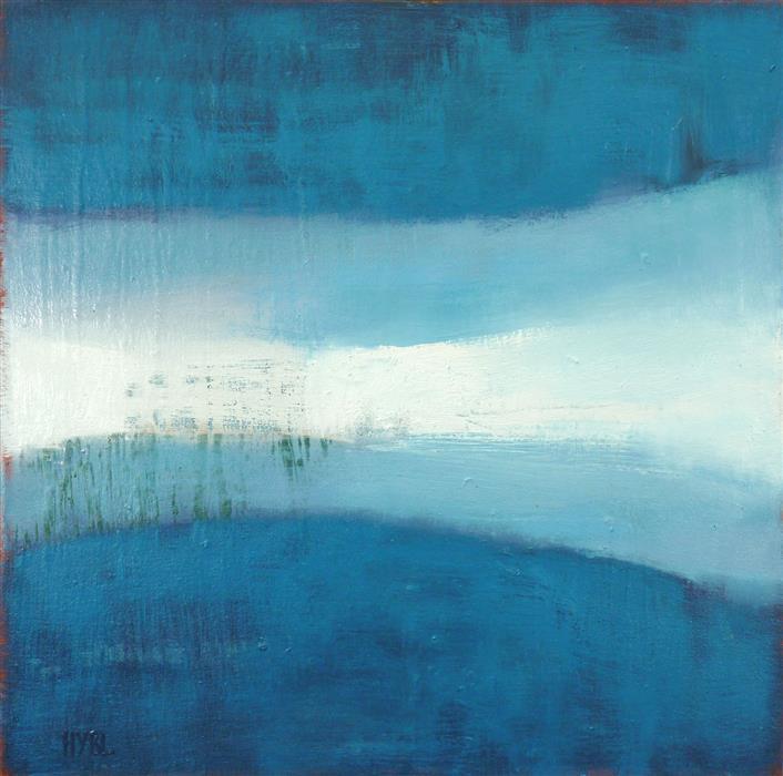 Original art for sale at UGallery.com | Light Stripe by Heidi Hybl | $1,600 | oil painting | 24' h x 24' w | ..\art\oil-painting-Light-Stripe