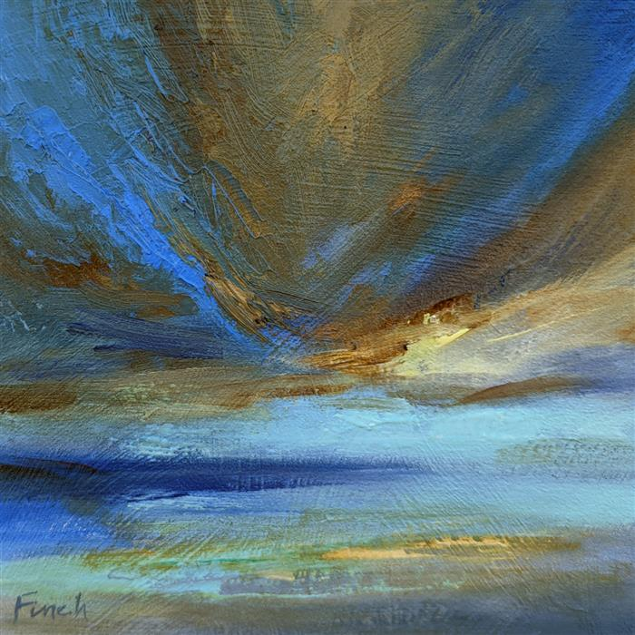Original art for sale at UGallery.com   Island Light by Sheila Finch   $325   oil painting   5' h x 5' w   ..\art\oil-painting-Island-Light