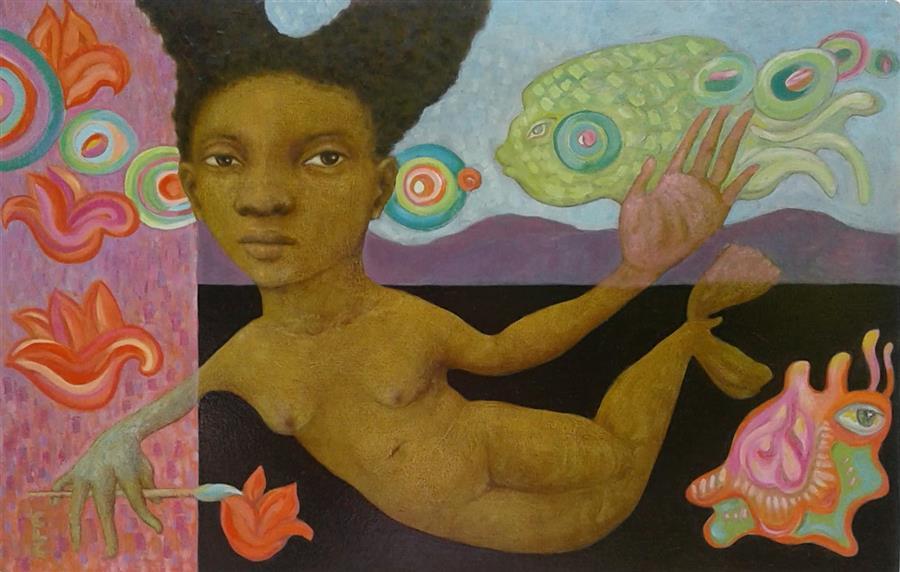 Original art for sale at UGallery.com   Painter by Cristina Lopez Casas   $800   oil painting   16' h x 24' w   ..\art\oil-painting-Painter