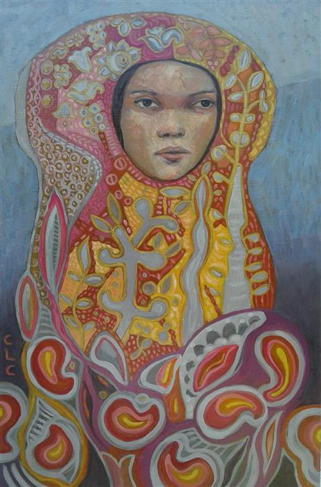 Original art for sale at UGallery.com   Laura by Cristina Lopez Casas   $650   oil painting   24' h x 16' w   ..\art\oil-painting-Laura