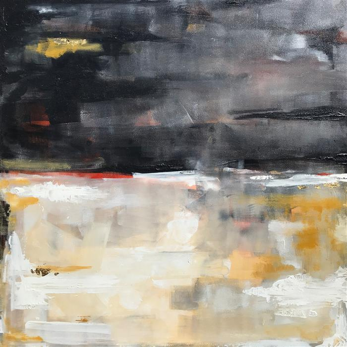 Original art for sale at UGallery.com | Dusk by Alana Clumeck | $2,000 | mixed media artwork | 36' h x 36' w | ..\art\mixed-media-artwork-Dusk