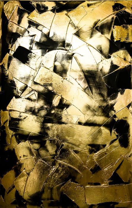 Original art for sale at UGallery.com | Wayward by M. Clark | $3,550 | mixed media artwork | 36' h x 23' w | ..\art\mixed-media-artwork-Wayward