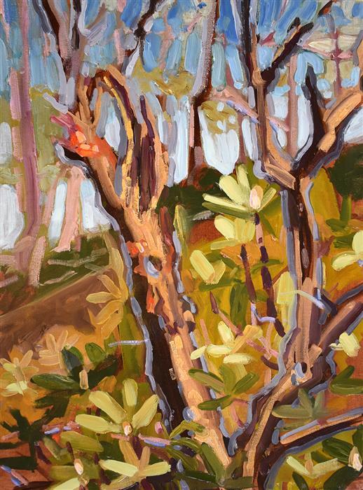 Original art for sale at UGallery.com | Laurel Highlands by Tara Zalewsky-Nease | $800 | oil painting | 24' h x 15' w | ..\art\oil-painting-Laurel-Highlands