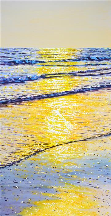 Original art for sale at UGallery.com | Warm Sunset Light by Iryna Kastsova | $1,600 | acrylic painting | 47' h x 23' w | ..\art\acrylic-painting-Warm-Sunset-Light