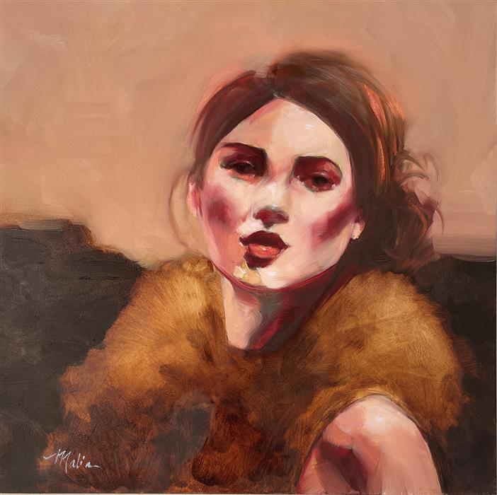 Original art for sale at UGallery.com | Chatelaine by Malia Pettit | $275 | oil painting | 12' h x 12' w | ..\art\oil-painting-Chatelaine