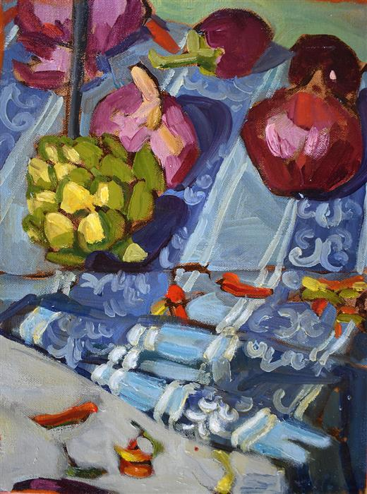 Original art for sale at UGallery.com   Mediterranean Kitchen by Tara Zalewsky-Nease   $625   oil painting   16' h x 12' w   ..\art\oil-painting-Mediterranean-Kitchen