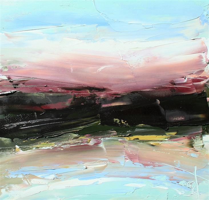 Original art for sale at UGallery.com | Summertime Sky by Ronda Waiksnis | $300 | oil painting | 12' h x 12' w | ..\art\oil-painting-Summertime-Sky-71561