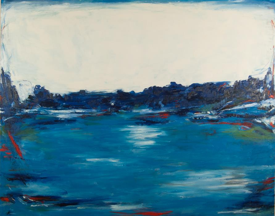Original art for sale at UGallery.com   Expansive Views by Kajal Zaveri   $6,500   oil painting   48' h x 60' w   ..\art\oil-painting-Expansive-Views
