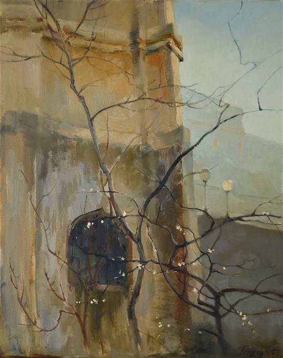 Original art for sale at UGallery.com   Awakening by Nadia Boldina   $725   oil painting   20' h x 16' w   ..\art\oil-painting-Awakening-71565