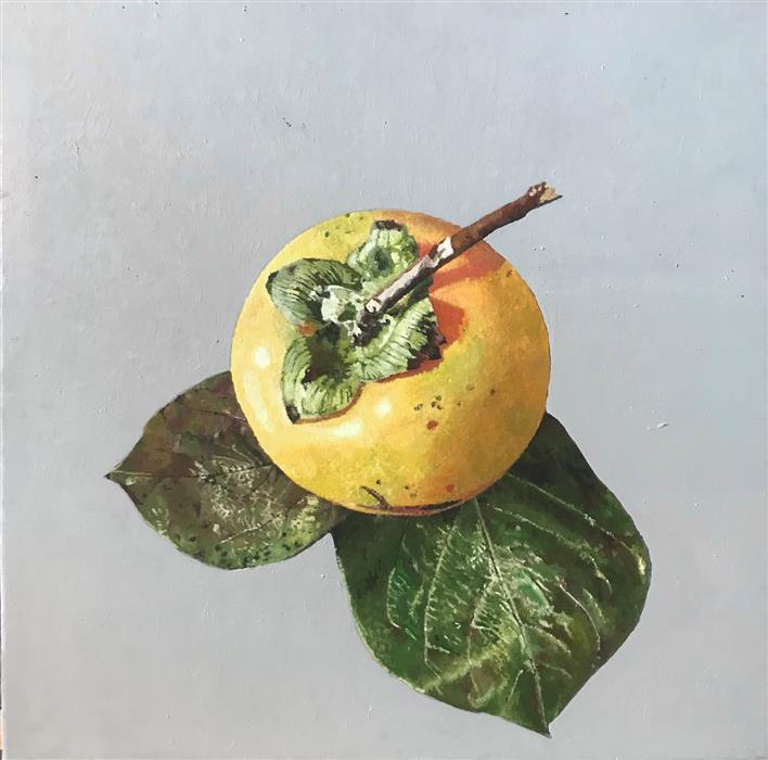 Original art for sale at UGallery.com | Persimmon by Simone Giaiacopi | $1,200 | oil painting | 15' h x 15' w | ..\art\oil-painting-Persimmon-71622