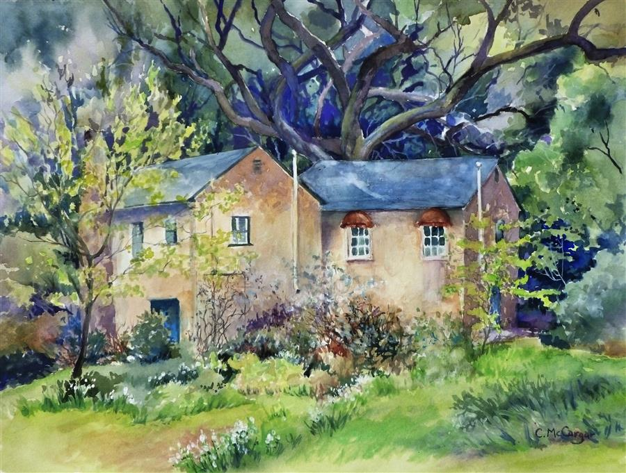 Original art for sale at UGallery.com | Secret Place by Catherine McCargar | $675 | watercolor painting | 12' h x 16' w | ..\art\watercolor-painting-Secret-Place