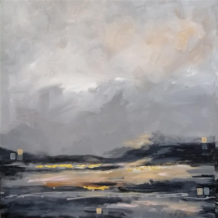 Original art for sale at UGallery.com | Half Light by Leslie Ann Butler | $1,050 | acrylic painting | 24' h x 24' w | ..\art\acrylic-painting-Half-Light