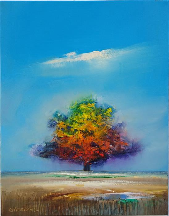 Original art for sale at UGallery.com | Seasons Change by George Peebles | $855 | oil painting | 28' h x 22' w | ..\art\oil-painting-Seasons-Change