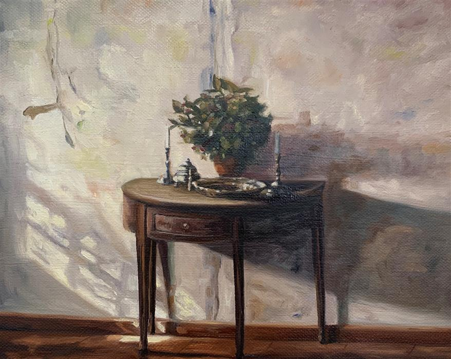Original art for sale at UGallery.com | Master Copy of Carl Holsoe's Sunlit Interior by Debbie Daniels | $875 | oil painting | 8' h x 10' w | ..\art\oil-painting-Master-Copy-of-Carl-Holsoe-s-Sunlit-Interior
