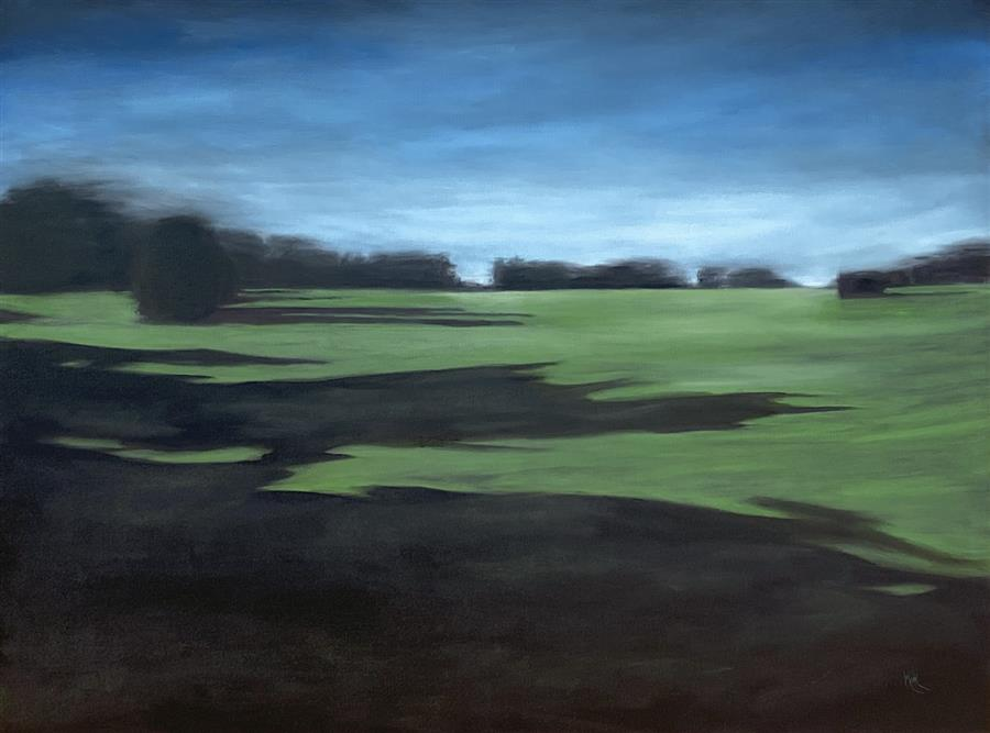 Original art for sale at UGallery.com | The Great Lawn by Mandy Main | $3,200 | oil painting | 36' h x 48' w | ..\art\oil-painting-The-Great-Lawn