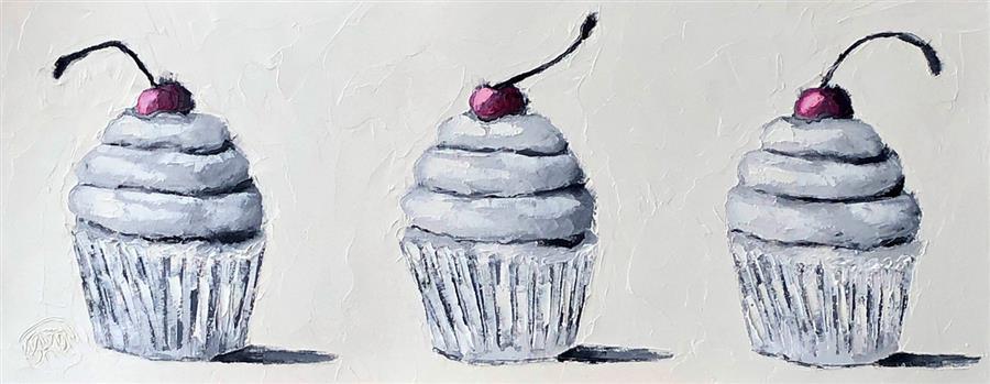 Original art for sale at UGallery.com   Cherry Devine by Karen Barton   $300   oil painting   8' h x 20' w   ..\art\oil-painting-Cherry-Devine