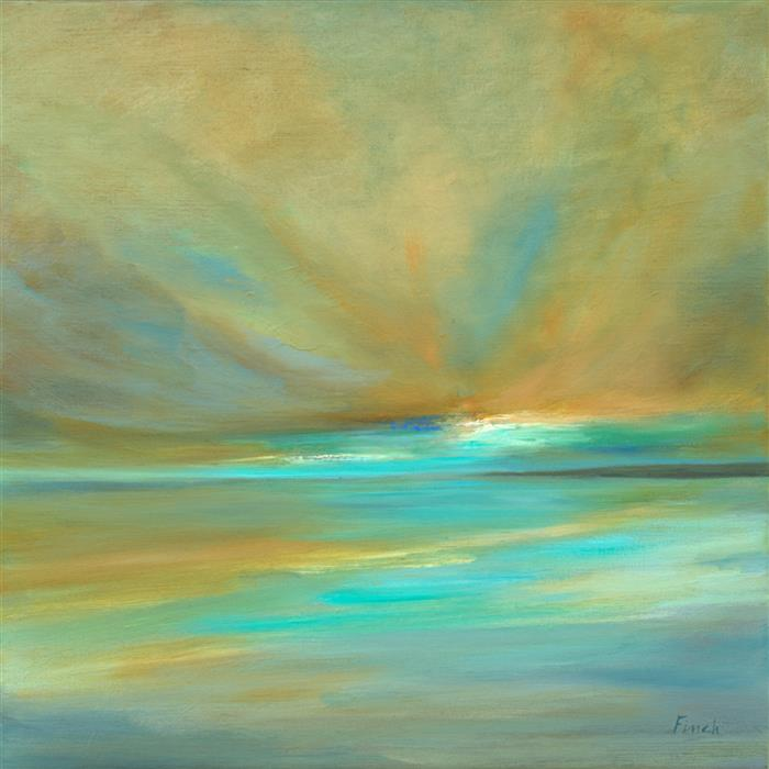 Original art for sale at UGallery.com | Amber Clouds by Sheila Finch | $925 | oil painting | 14' h x 14' w | ..\art\oil-painting-Amber-Clouds-71689