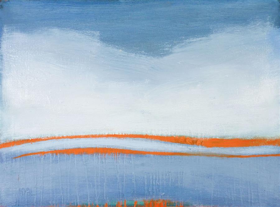 Original art for sale at UGallery.com | Fog Rhythm by Heidi Hybl | $1,000 | oil painting | 18' h x 24' w | ..\art\oil-painting-Fog-Rhythm