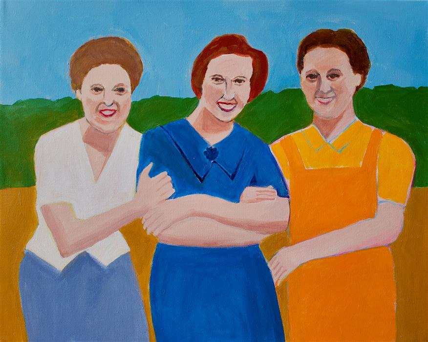 Original art for sale at UGallery.com | Three Sisters by Toni Silber-Delerive | $1,600 | acrylic painting | 16' h x 20' w | ..\art\acrylic-painting-Three-Sisters
