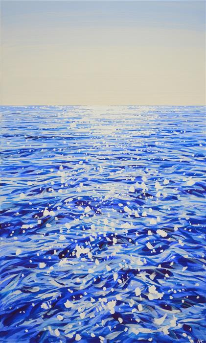 Original art for sale at UGallery.com   The Shine of the Ocean by Iryna Kastsova   $2,050   acrylic painting   39' h x 23' w   ..\art\acrylic-painting-The-Shine-of-the-Ocean