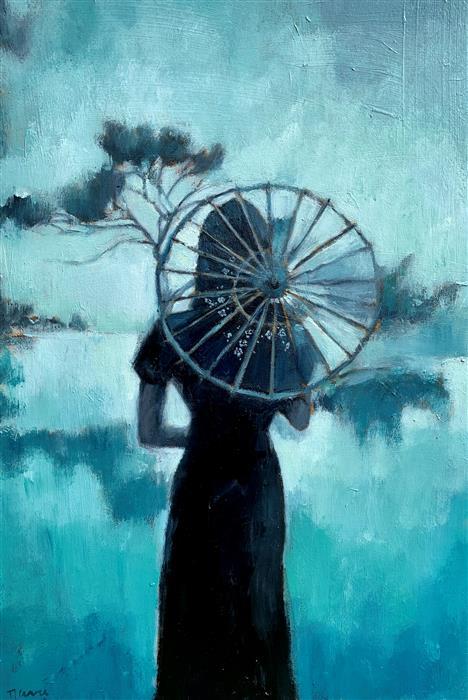 Original art for sale at UGallery.com | Carpe Diem by Nava Lundy | $2,200 | acrylic painting | 36' h x 24' w | ..\art\acrylic-painting-Carpe-Diem-71748