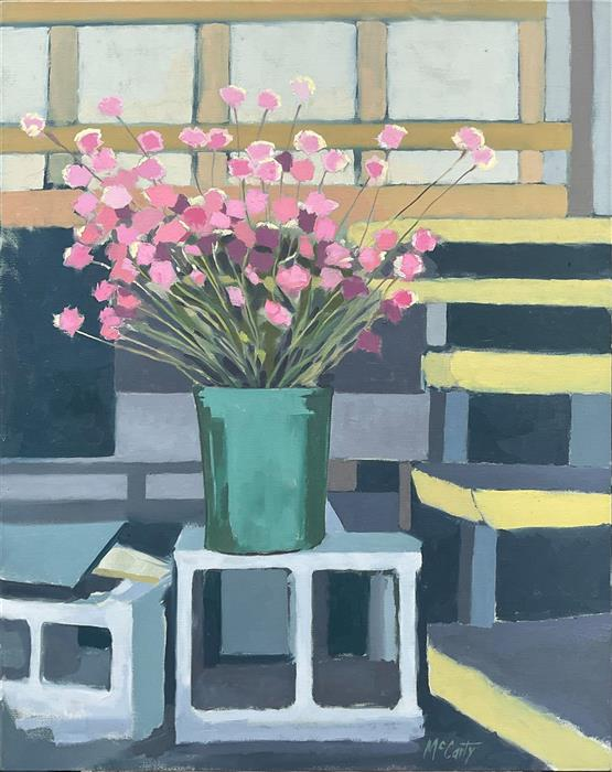 Original art for sale at UGallery.com   Flowers for Sale by Brian McCarty   $575   oil painting   28' h x 22' w   ..\art\oil-painting-Flowers-for-Sale