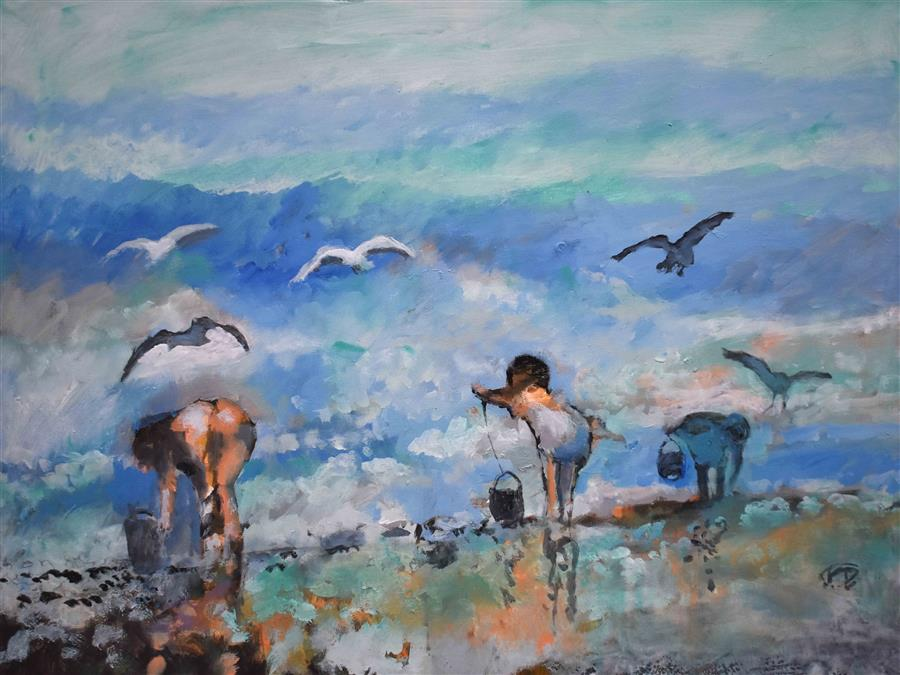 Original art for sale at UGallery.com | Hunting For Treasure by Kip Decker | $2,775 | acrylic painting | 30' h x 40' w | ..\art\acrylic-painting-Hunting-For-Treasure