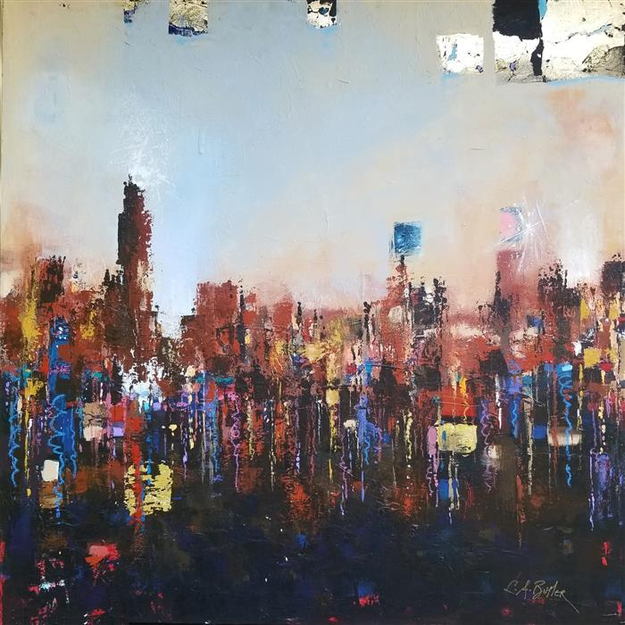 Original art for sale at UGallery.com | Elysium by Leslie Ann Butler | $2,550 | acrylic painting | 36' h x 36' w | ..\art\acrylic-painting-Elysium