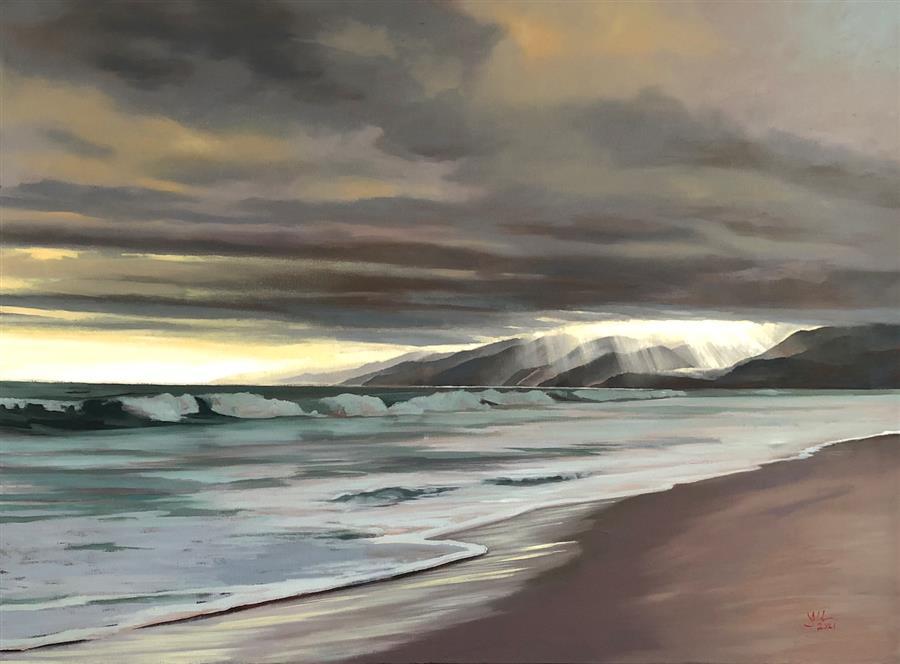 Original art for sale at UGallery.com | Coastal Range by Jesse Aldana | $2,375 | oil painting | 30' h x 40' w | ..\art\oil-painting-Coastal-Range