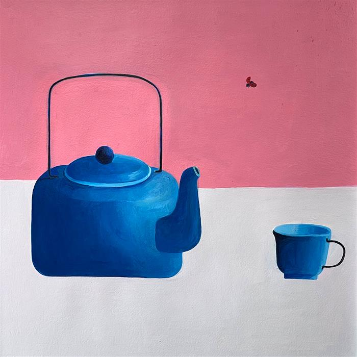 Original art for sale at UGallery.com   Want Some Tea? by Ziui Vance   $700   acrylic painting   16' h x 16' w   ..\art\acrylic-painting-Want-Some-Tea