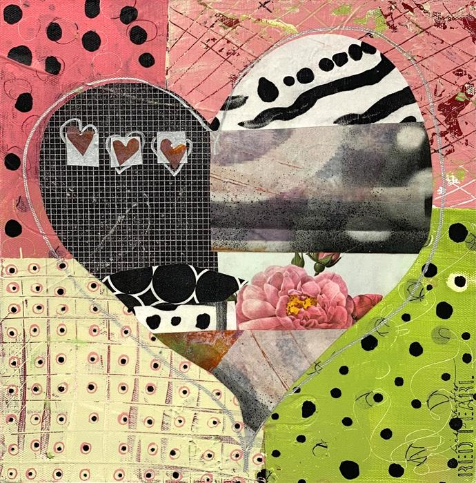 Original art for sale at UGallery.com | You Are My Heart by Linda Shaffer | $325 | mixed media artwork | 12' h x 12' w | ..\art\mixed-media-artwork-You-Are-My-Heart