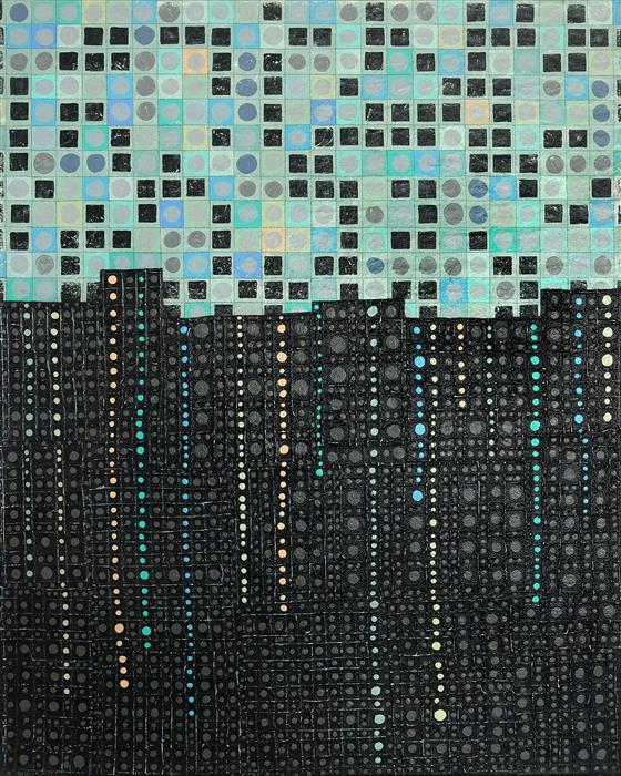 Original art for sale at UGallery.com | Transition City by Terri Bell | $700 | mixed media artwork | 20' h x 16' w | ..\art\mixed-media-artwork-Transition-City
